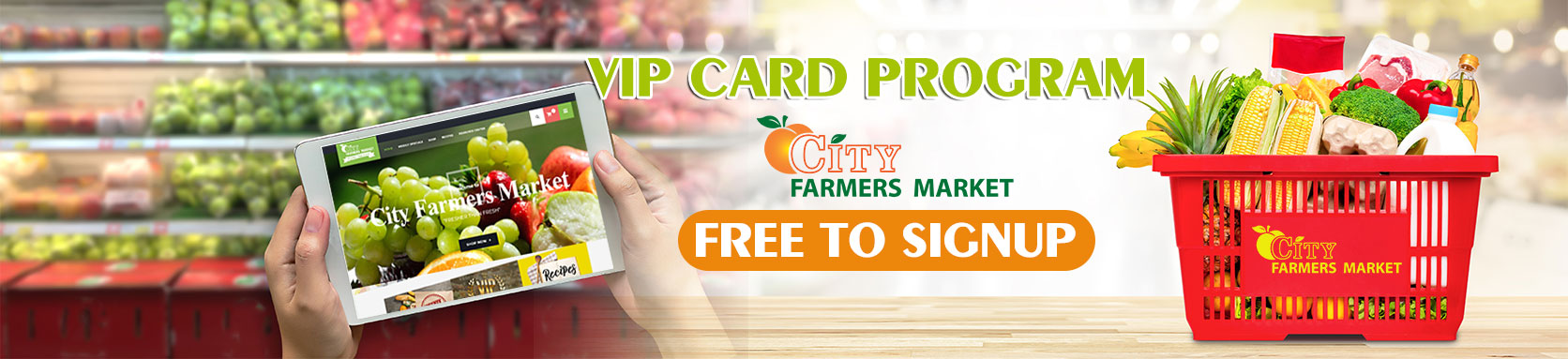 VIP Card Signup in Store City Farmers Market Atlanta Georgia VIP Card Program v1