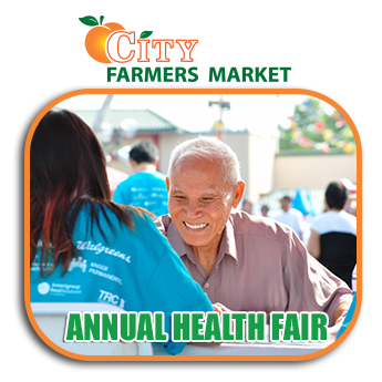 Community CityFarmersMarket Community Events Annual Health Fair Events Banner