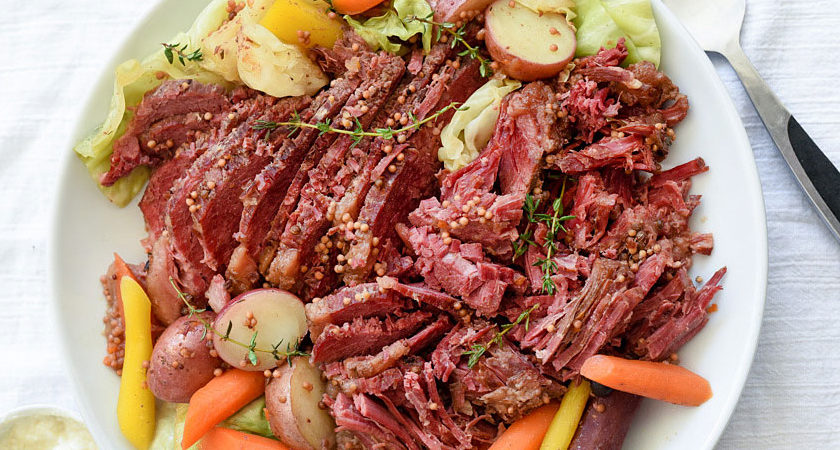 Slow-Cooker Corned Beef and Cabbage  Slow-Cooker Corned Beef and Cabbage beef 840x450