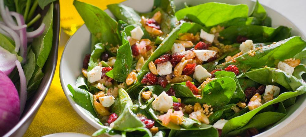 Jamie's Cranberry Spinach Salad  Jamie's Cranberry Spinach Salad CFM Jamies Cranberry Spinach Salad  1000x450