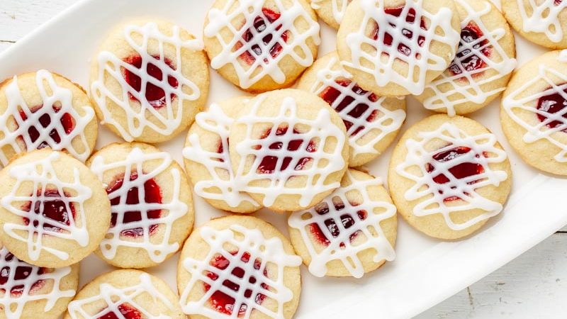 Raspberry and Almond Shortbread Thumbprints  Raspberry and Almond Shortbread Thumbprints Raspberry and Almond Shortbread Thumbprints 800x450