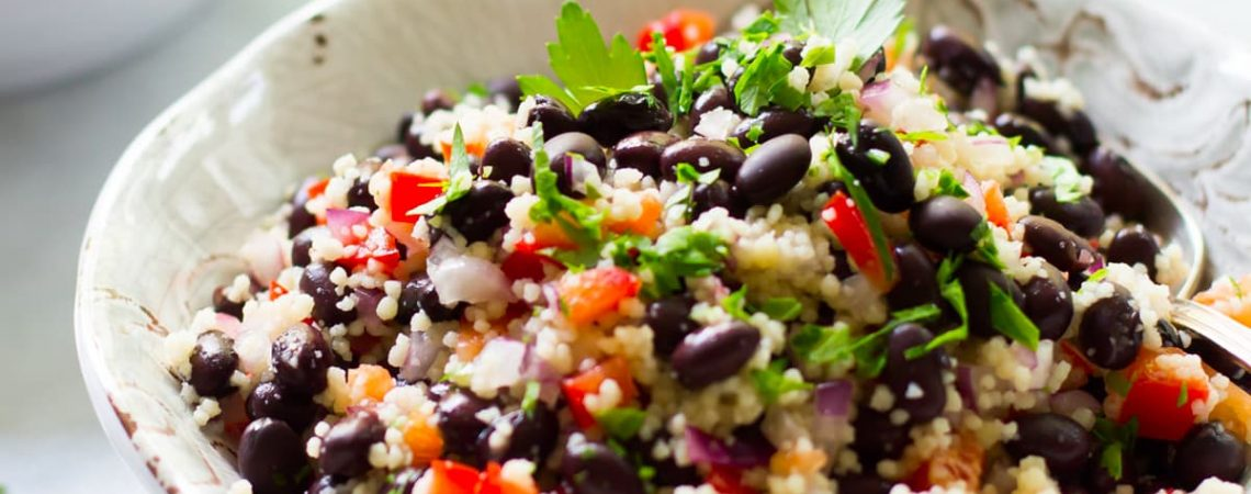 Black Bean and Couscous Salad  Black Bean and Couscous Salad black bean couscous salad photo 1140x450