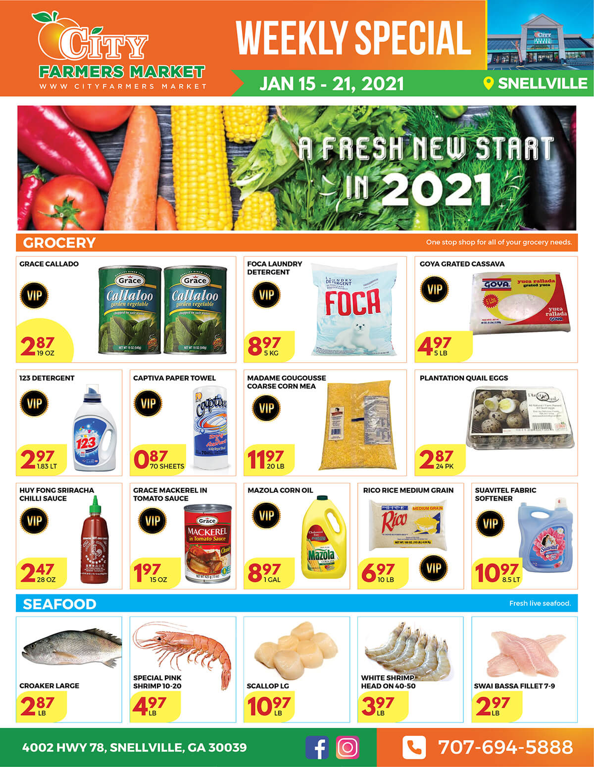 [object object] Weekly Special – CFM#3 @ Snellville City Farmers Market International Supermarket in Georgia CFM3 Snellville Front
